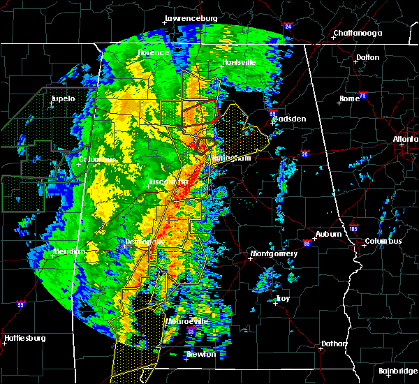 Radar Image for Severe Thunderstorms near Yellow Bluff, AL at 1/11/2020 12:53 PM CST