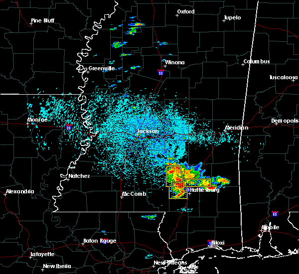 Radar Image for Severe Thunderstorms near West Hattiesburg, MS at 6/24/2015 1:35 PM CDT