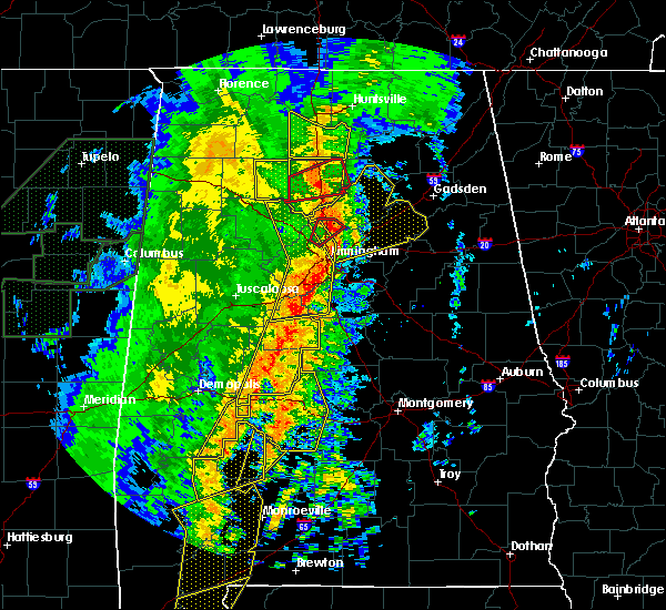 Radar Image for Severe Thunderstorms near Vincent, AL at 1/11/2020 12:55 PM CST
