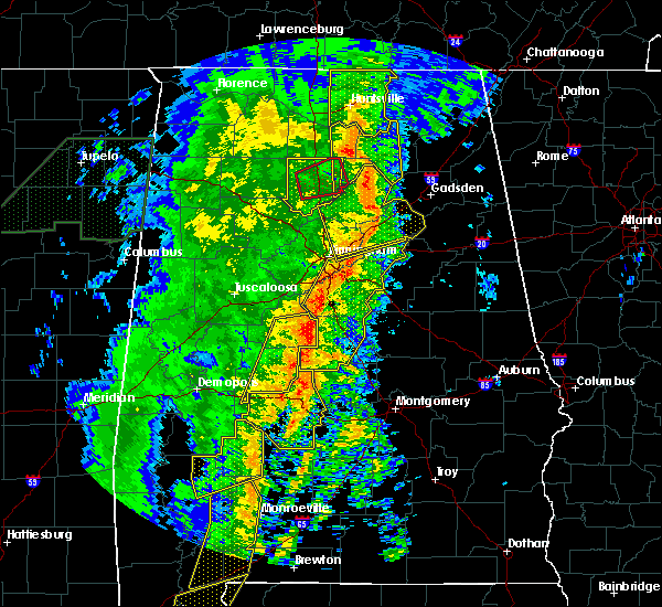 Radar Image for Severe Thunderstorms near Vincent, AL at 1/11/2020 1:15 PM CST