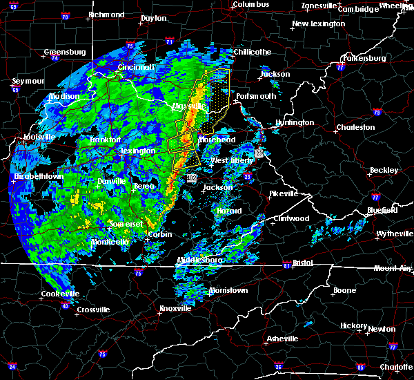 Radar Image for Severe Thunderstorms near Morehead, KY at 1/11/2020 2:19 PM EST