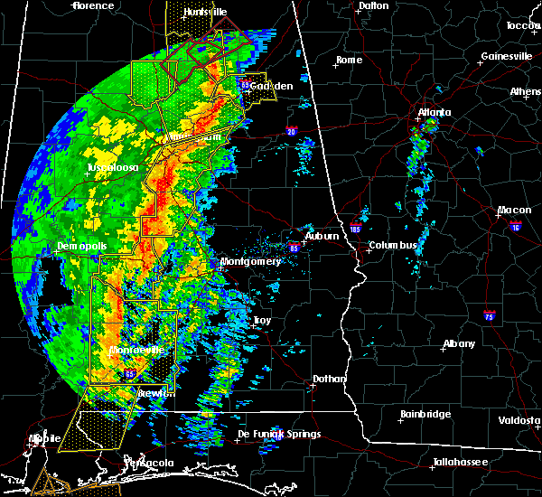 Radar Image for Severe Thunderstorms near Gordonville, AL at 1/11/2020 1:30 PM CST