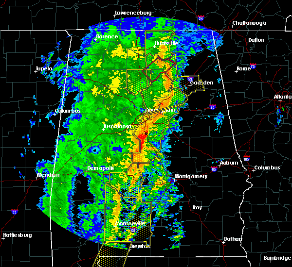 Radar Image for Severe Thunderstorms near Vincent, AL at 1/11/2020 1:36 PM CST
