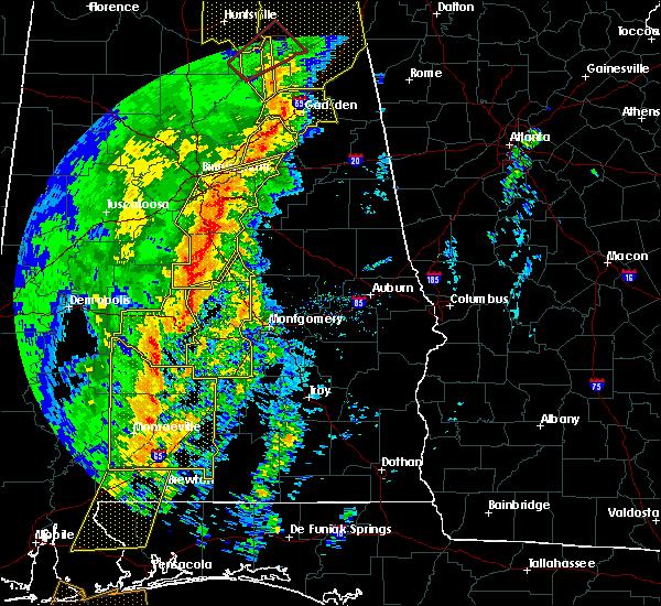 Radar Image for Severe Thunderstorms near Gordonville, AL at 1/11/2020 1:44 PM CST