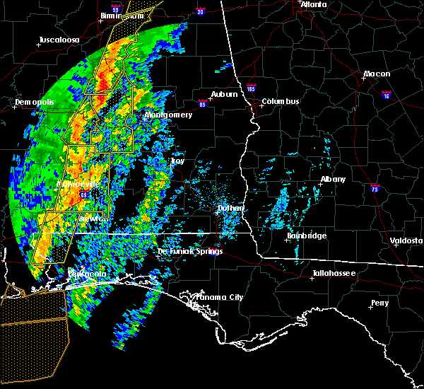 Radar Image for Severe Thunderstorms near Oak Hill, AL at 1/11/2020 1:43 PM CST