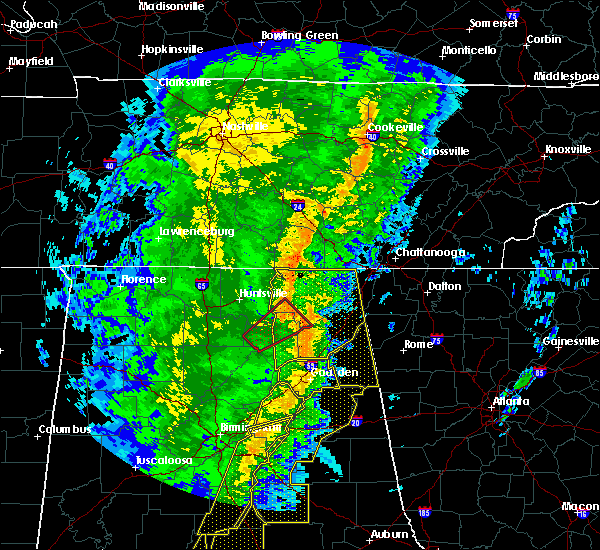 Radar Image for Severe Thunderstorms near Guntersville, AL at 1/11/2020 1:48 PM CST