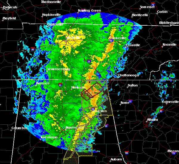 Radar Image for Severe Thunderstorms near Whitesboro, AL at 1/11/2020 1:56 PM CST