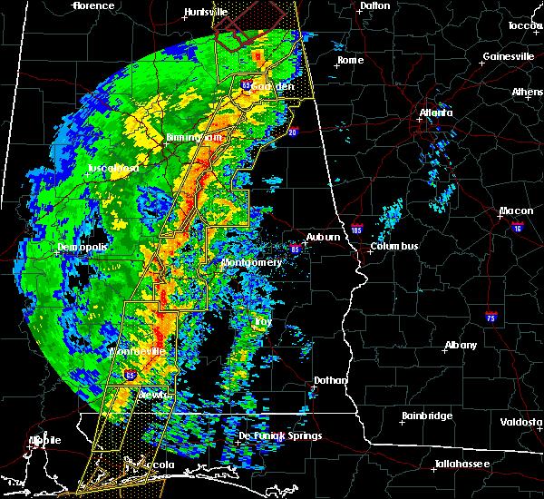 Radar Image for Severe Thunderstorms near Gordonville, AL at 1/11/2020 1:58 PM CST