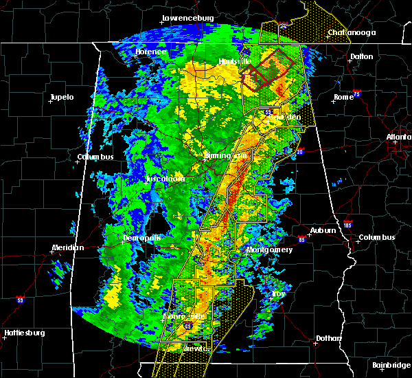 Radar Image for Severe Thunderstorms near Vincent, AL at 1/11/2020 2:05 PM CST
