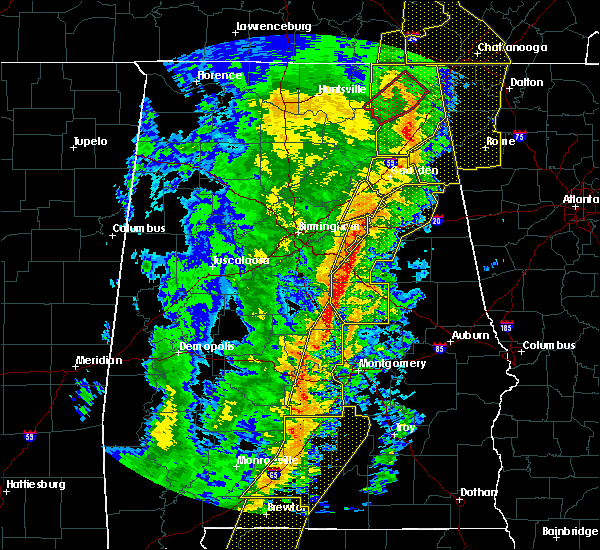 Radar Image for Severe Thunderstorms near Vincent, AL at 1/11/2020 2:07 PM CST