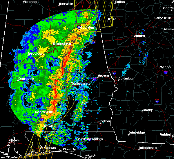 Radar Image for Severe Thunderstorms near Coosada, AL at 1/11/2020 2:12 PM CST