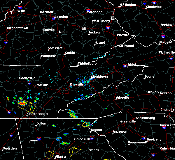 Radar Image for Severe Thunderstorms near Hayesville, NC at 6/24/2015 2:52 PM EDT