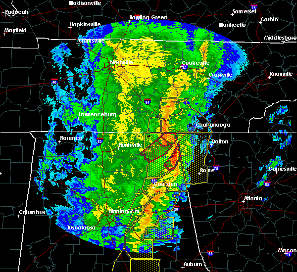 Radar Image for Severe Thunderstorms near Gaylesville, AL at 1/11/2020 2:20 PM CST