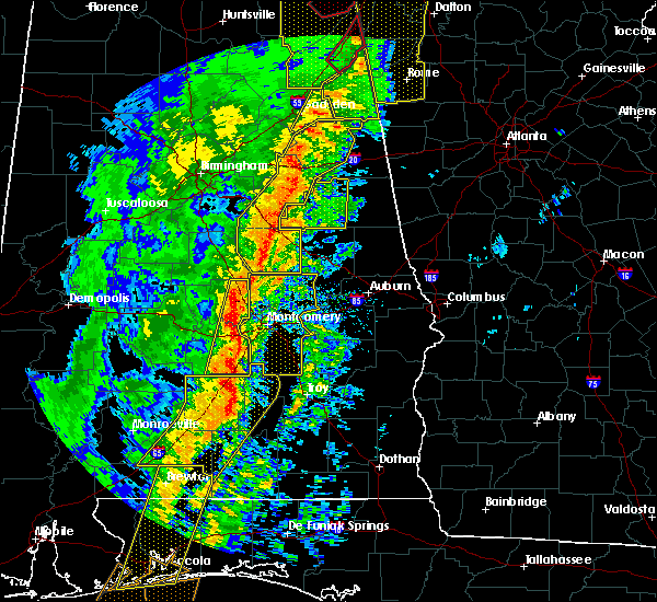 Radar Image for Severe Thunderstorms near Coosada, AL at 1/11/2020 2:22 PM CST