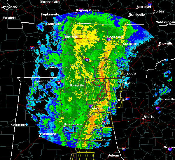 Radar Image for Severe Thunderstorms near Fort Payne, AL at 1/11/2020 2:26 PM CST