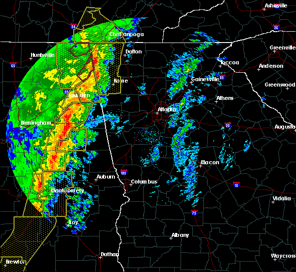 Radar Image for Severe Thunderstorms near Edwardsville, AL at 1/11/2020 2:26 PM CST