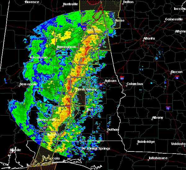 Radar Image for Severe Thunderstorms near Tallassee, AL at 1/11/2020 2:30 PM CST