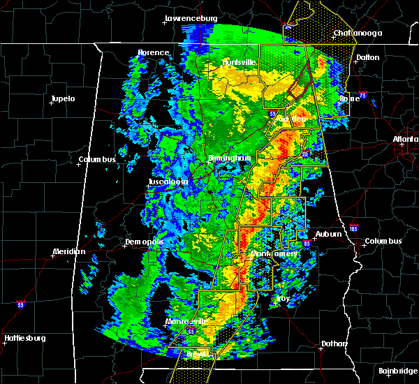 Radar Image for Severe Thunderstorms near Jacksonville, AL at 1/11/2020 2:32 PM CST