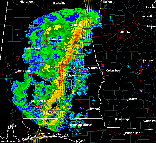 Radar Image for Severe Thunderstorms near Coosada, AL at 1/11/2020 2:34 PM CST