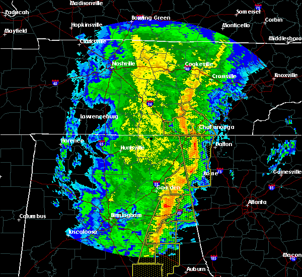 Radar Image for Severe Thunderstorms near Gaylesville, AL at 1/11/2020 2:39 PM CST