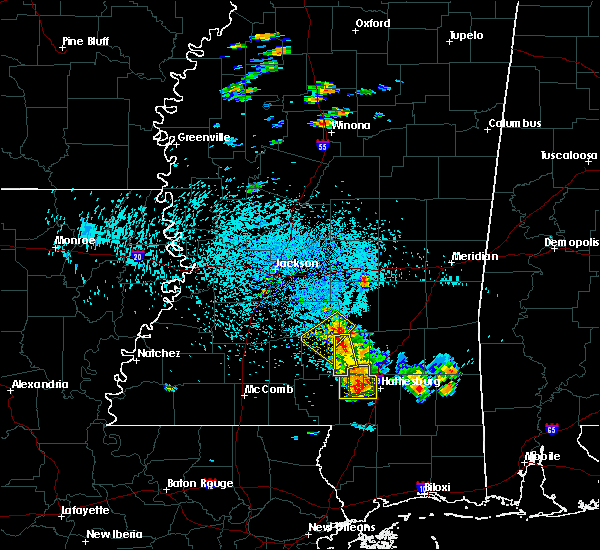 Radar Image for Severe Thunderstorms near West Hattiesburg, MS at 6/24/2015 1:55 PM CDT