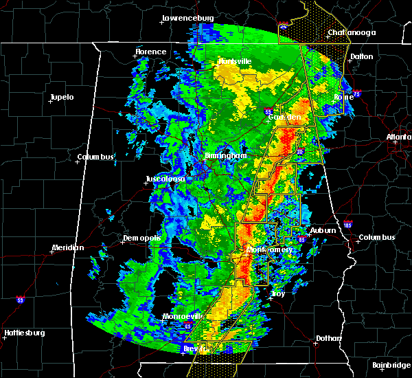 Radar Image for Severe Thunderstorms near Delta, AL at 1/11/2020 2:43 PM CST