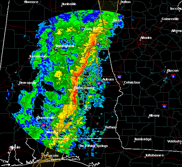 Radar Image for Severe Thunderstorms near Wetumpka, AL at 1/11/2020 2:45 PM CST