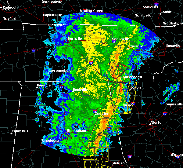 Radar Image for Severe Thunderstorms near Calhoun, GA at 1/11/2020 3:45 PM EST
