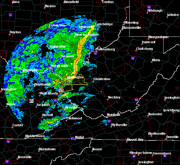 Radar Image for Severe Thunderstorms near Lavalette, WV at 1/11/2020 3:48 PM EST