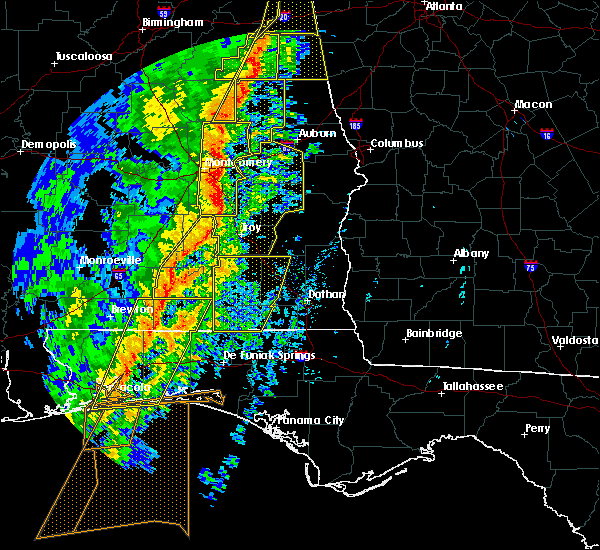 Radar Image for Severe Thunderstorms near New Brockton, AL at 1/11/2020 2:52 PM CST