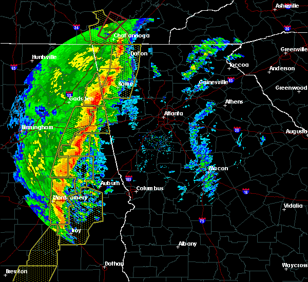 Radar Image for Severe Thunderstorms near Roanoke, AL at 1/11/2020 2:52 PM CST