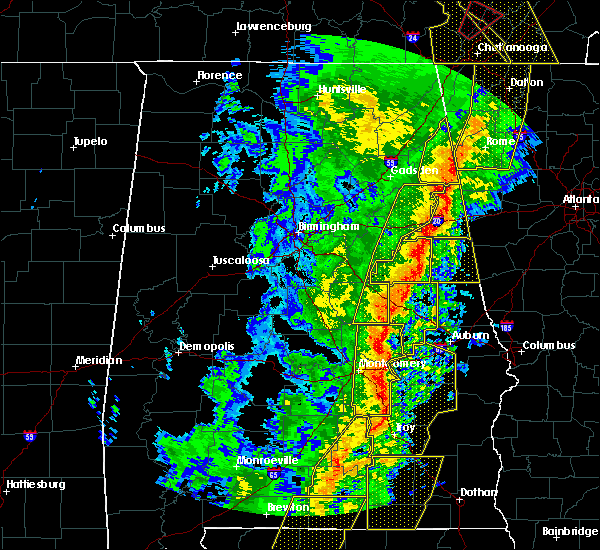 Radar Image for Severe Thunderstorms near Jacksonville, AL at 1/11/2020 2:54 PM CST