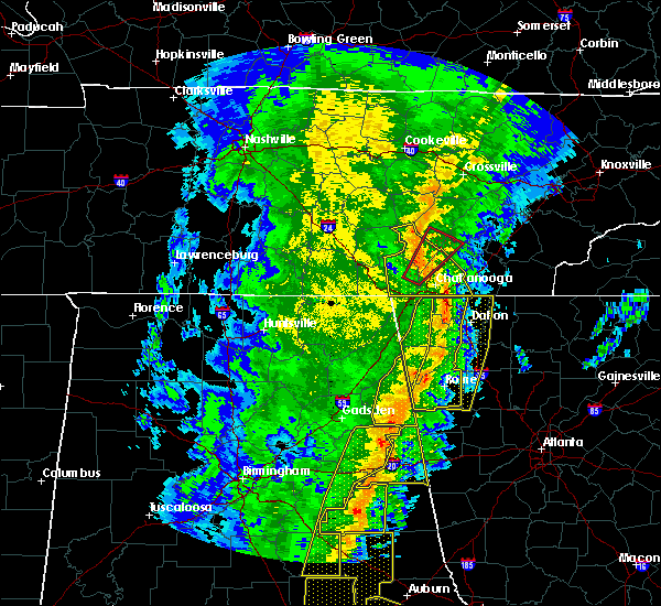 Radar Image for Severe Thunderstorms near Mowbray Mountain, TN at 1/11/2020 3:54 PM EST