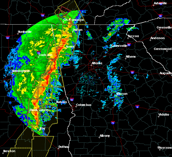 Radar Image for Severe Thunderstorms near Bowdon, GA at 1/11/2020 3:56 PM EST