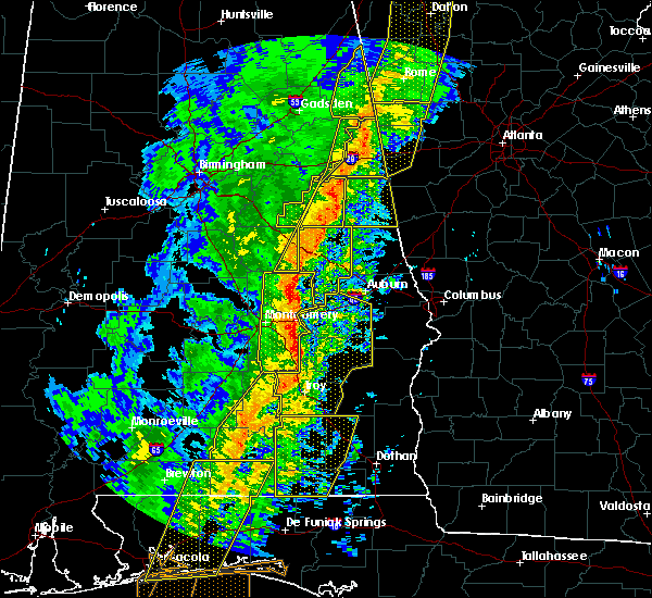 Radar Image for Severe Thunderstorms near Delta, AL at 1/11/2020 3:00 PM CST