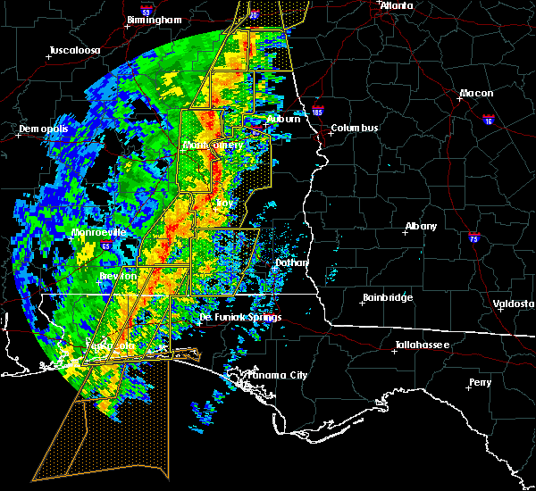 Radar Image for Severe Thunderstorms near Babbie, AL at 1/11/2020 3:04 PM CST