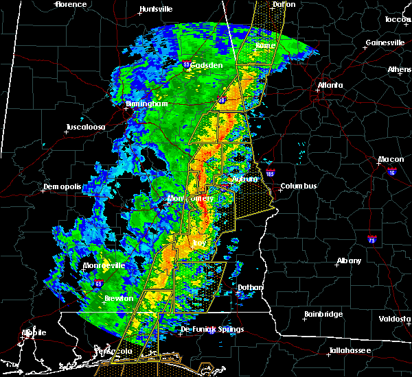 Radar Image for Severe Thunderstorms near Ladonia, AL at 1/11/2020 3:10 PM CST