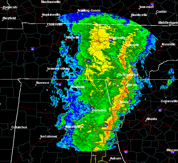Radar Image for Severe Thunderstorms near Calhoun, GA at 1/11/2020 4:10 PM EST