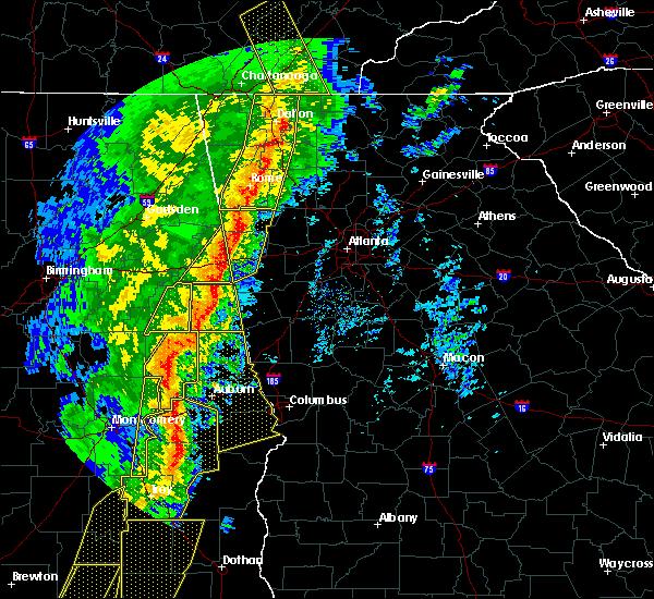 Radar Image for Severe Thunderstorms near Ranburne, AL at 1/11/2020 3:15 PM CST