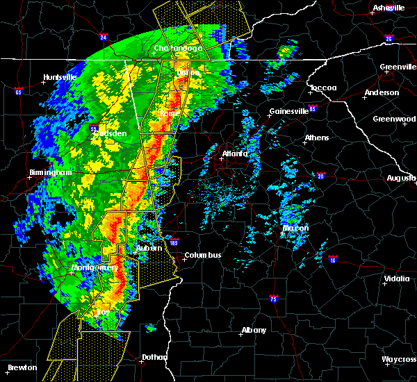Radar Image for Severe Thunderstorms near Roanoke, AL at 1/11/2020 3:19 PM CST