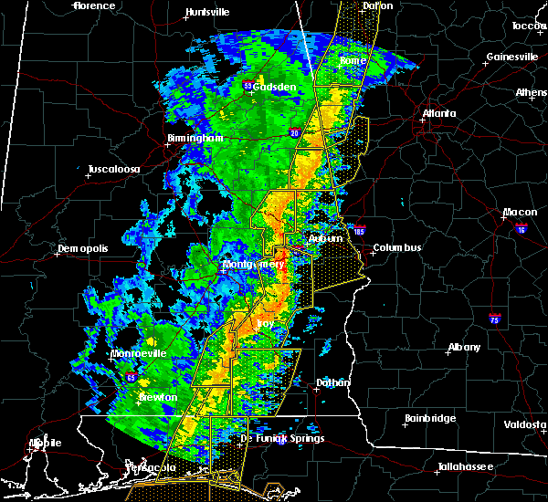 Radar Image for Severe Thunderstorms near Dadeville, AL at 1/11/2020 3:23 PM CST