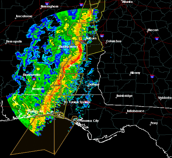 Radar Image for Severe Thunderstorms near Babbie, AL at 1/11/2020 3:23 PM CST
