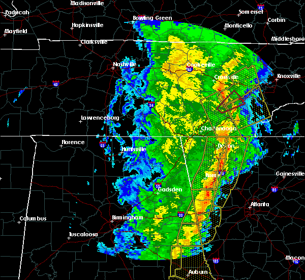 Radar Image for Severe Thunderstorms near Calhoun, GA at 1/11/2020 4:23 PM EST