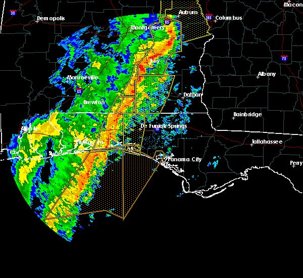 Radar Image for Severe Thunderstorms near Ocean City, FL at 1/11/2020 3:28 PM CST