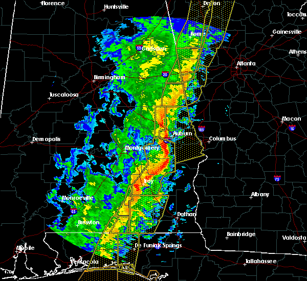 Radar Image for Severe Thunderstorms near Midway, AL at 1/11/2020 3:29 PM CST