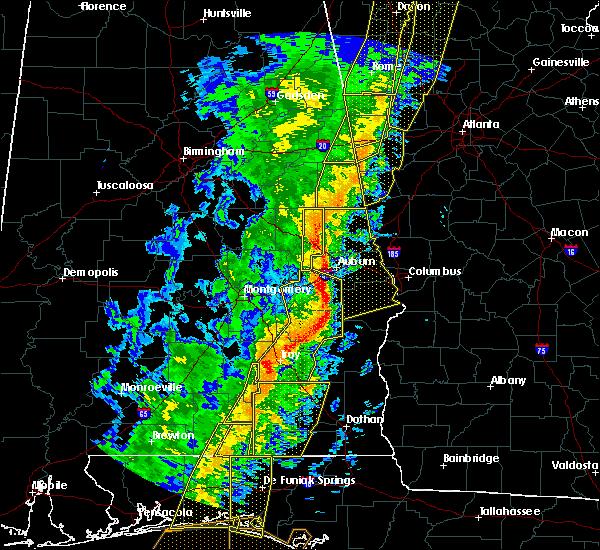 Radar Image for Severe Thunderstorms near La Fayette, AL at 1/11/2020 3:30 PM CST