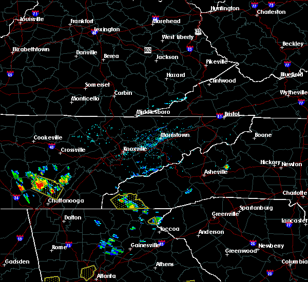 Radar Image for Severe Thunderstorms near Hayesville, NC at 6/24/2015 3:07 PM EDT