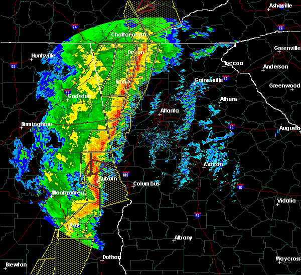 Radar Image for Severe Thunderstorms near Bowdon, GA at 1/11/2020 4:37 PM EST
