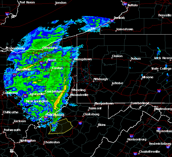 Radar Image for Severe Thunderstorms near Paden City, WV at 1/11/2020 4:42 PM EST