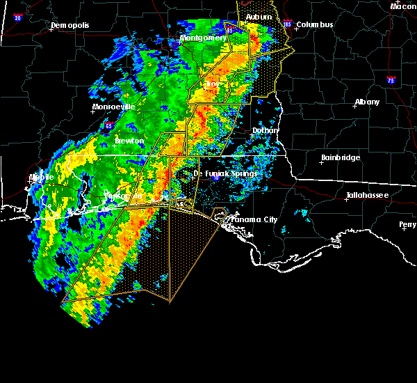 Radar Image for Severe Thunderstorms near Ocean City, FL at 1/11/2020 3:47 PM CST